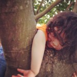 Addie Climbing A Tree