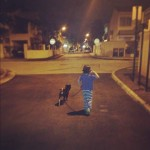 Kian walking lucy